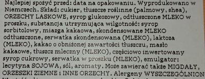Orzech laskowy w karmelu - Ingrediënten - pl
