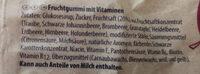 Lachgummi frutivity - Ingredients