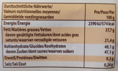 Merci Petits - Informations nutritionnelles