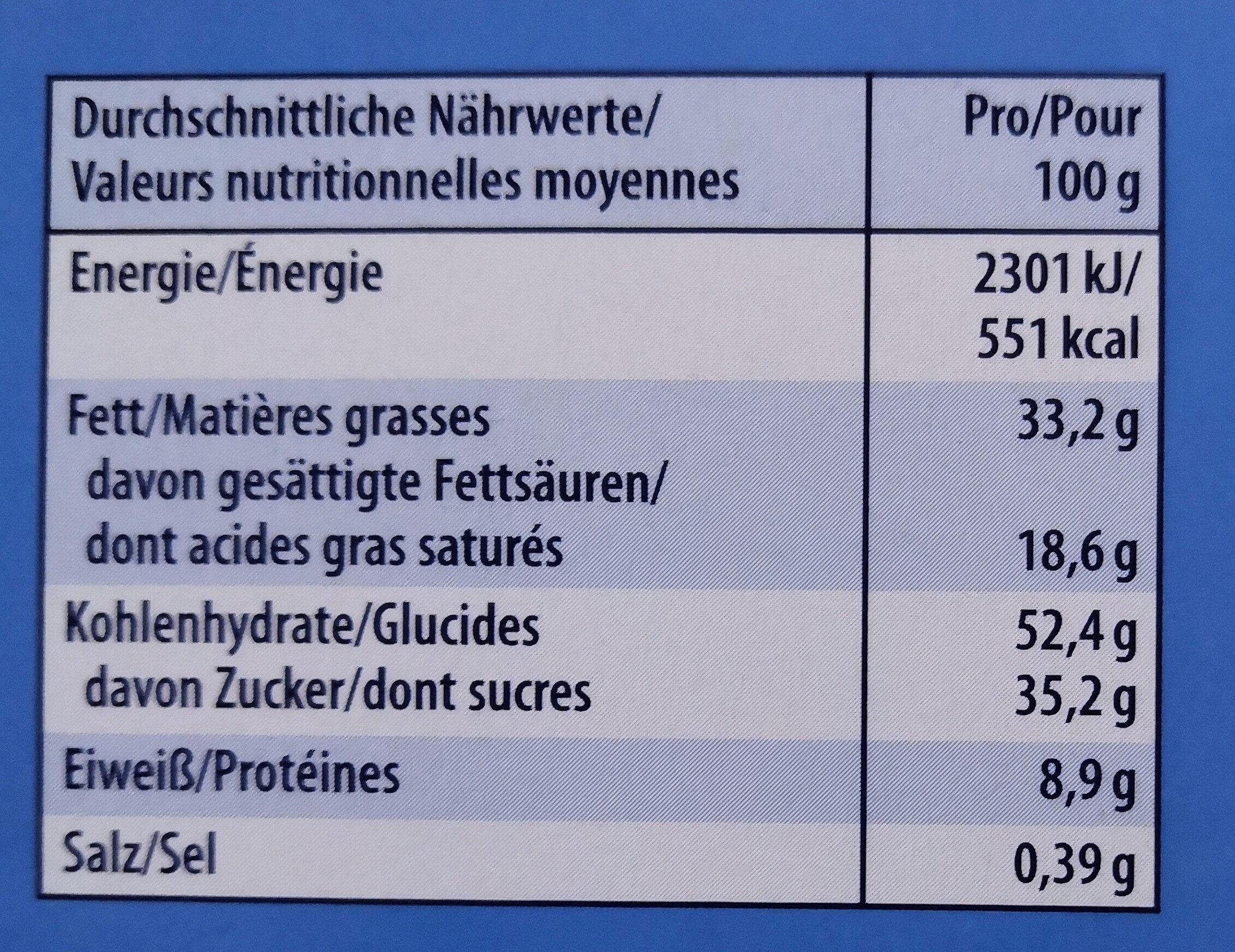Knoppers - Informations nutritionnelles - de