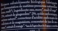 Bionade - Ingrediënten