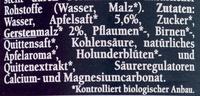 Bionade Streuobst - Ingredienti - de