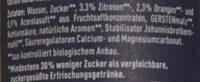 Naturtrübe Zitrone - Ingredienti - de