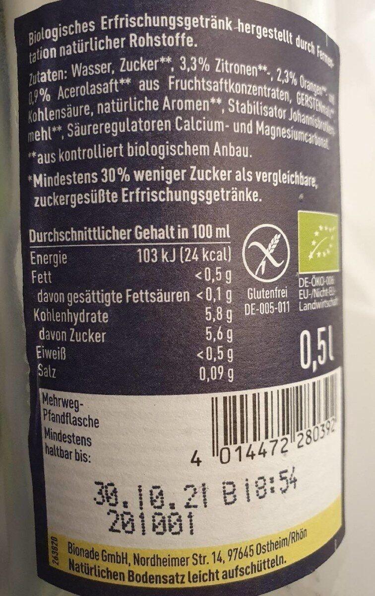 Naturtrübe Zitrone - Valori nutrizionali - de