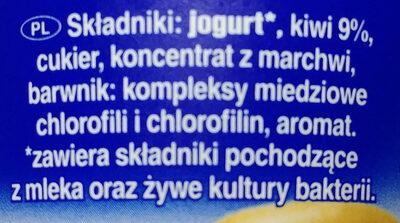 Jogurt z kiwi - Ingredients - pl