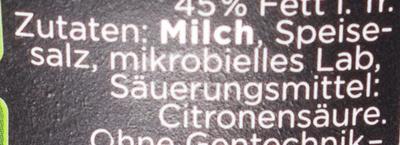 Mini/ Zottarella Classic Mozzarella  / käse - Ingredients - de