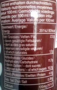 Monte Drink - Nährwertangaben