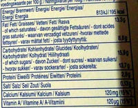 monte maxi - Nutrition facts