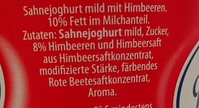 Sahne Joghurt, Himbeer - Ingredients - de
