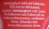 Sahnejoghurt mild Erdbeer - Ingredients