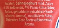 Sahne Joghurt mild Erdbeer Panna Cotta - Ingredients