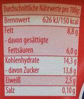 Sahne Joghurt mild Erdbeer Panna Cotta - Nutrition facts