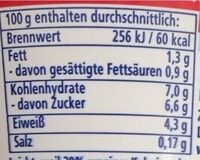 Gourmet fettarmer Joghurt mild - Valori nutrizionali - en