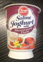 Sahne Joghurt mild Mascarpone Duett - Produit - fr