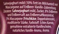 Sahne Joghurt mild Mascarpone Duett - Ingrédients - fr
