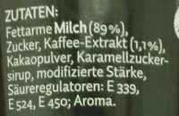 Cppuccino Caffreze - Inhaltsstoffe