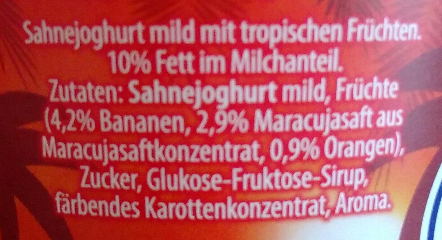 Sahne Joghurt Mild Tropische Früchte - Ingredients - de