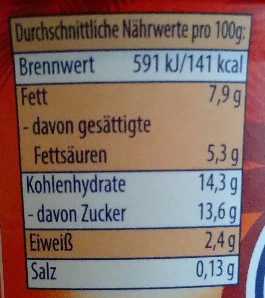 Sahne Joghurt Mild Tropische Früchte - Nutrition facts - de