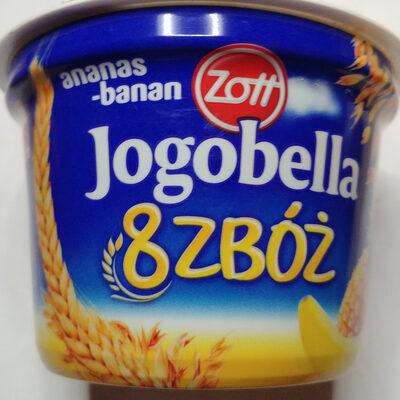 Jogurt z ananasem i bananami oraz ośmioma zbożami. - Product