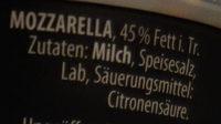 Zottarella Mini, Saison - Ingredienti - de