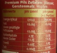 Hasseröder Premium Pils 0,5 L - Ingredients - de