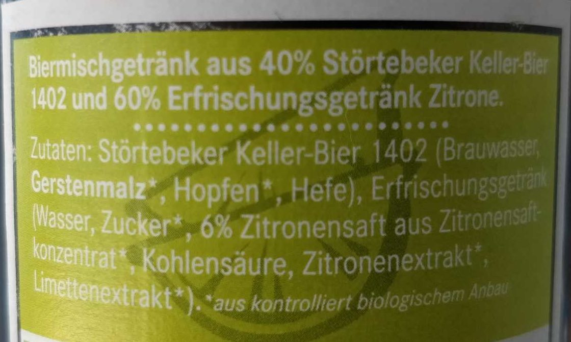 Strandräuber BioBiermix - Ingrediënten - de
