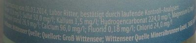 Wittenseer Stille - Nährwertangaben - de
