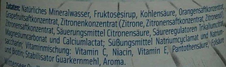 ISO Sport Vital , Grapefruit - Zitrone - Ingredienti - de
