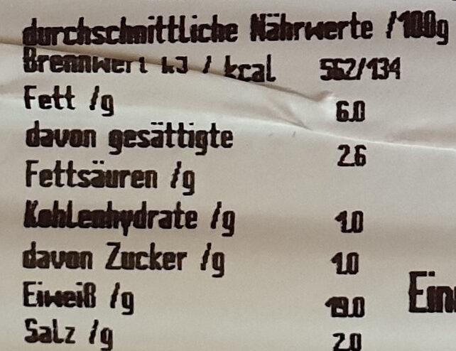 Farmer Kochschinken - Nährwertangaben - de