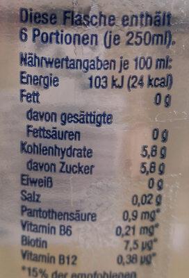 AQUA Wellness Kirsch - Valori nutrizionali - de