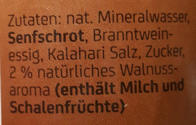 Walnuss Senf nussig mittelscharf - Ingredients
