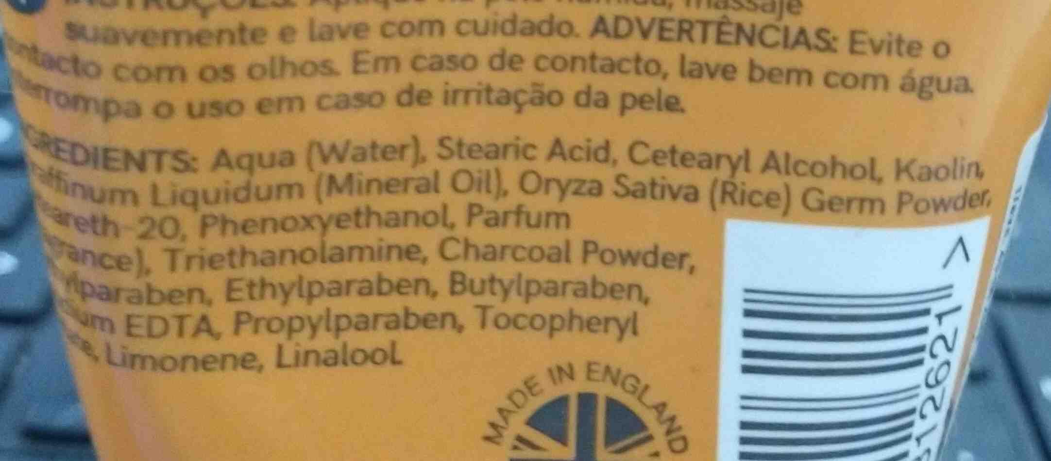 Charcoal - Ingrédients - en