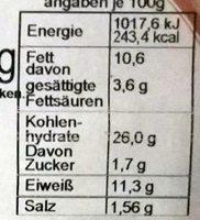 Pizza Thunfisch - Voedingswaarden - de