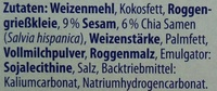 Filinchen Chia & Sesam - Ingredients