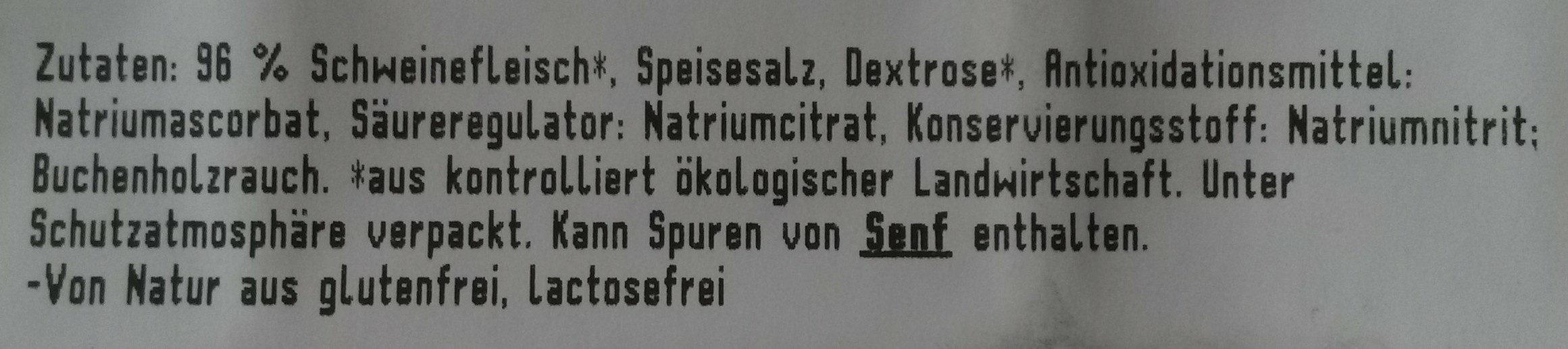 Bio Kasselerbraten - Ingredients - de