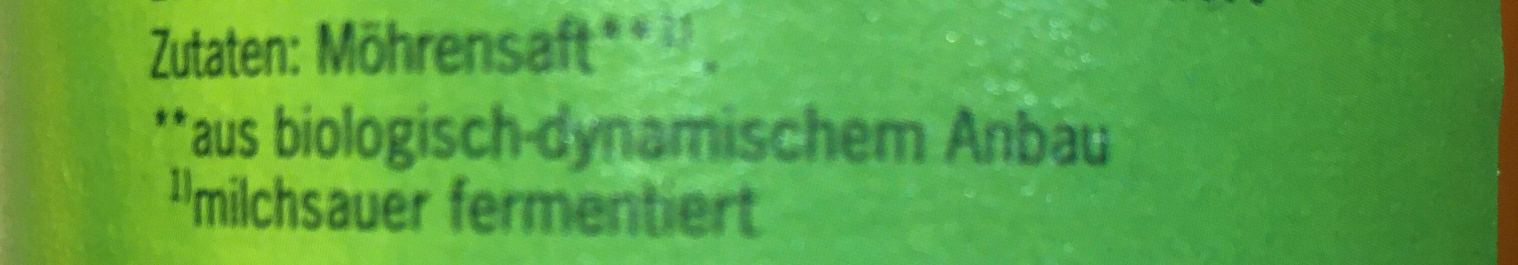 Möhrenmost - Ingredients