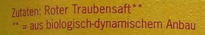 Traubensaft - Ingredients - de