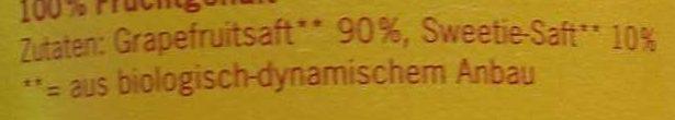 Voelkel Grapefruitsaft, 0,7 LTR Flasche - Ingredienti - de