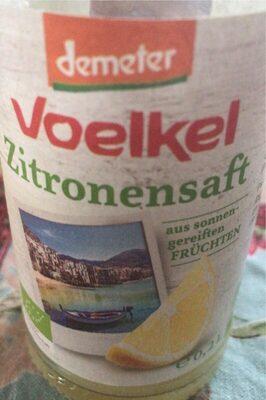 Zitronensaft, Voelkel, 100 % Fruchtgehalt - Prodotto - fr