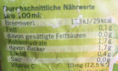 Zitronensaft, Voelkel, 100 % Fruchtgehalt - Valori nutrizionali - fr