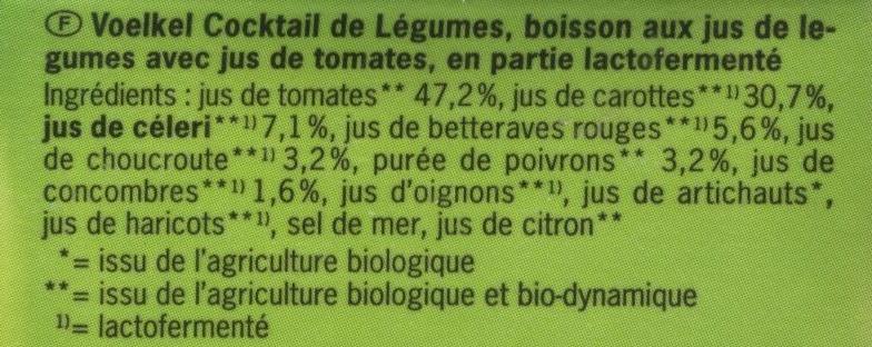 Cocktail de légumes - Ingrédients - fr