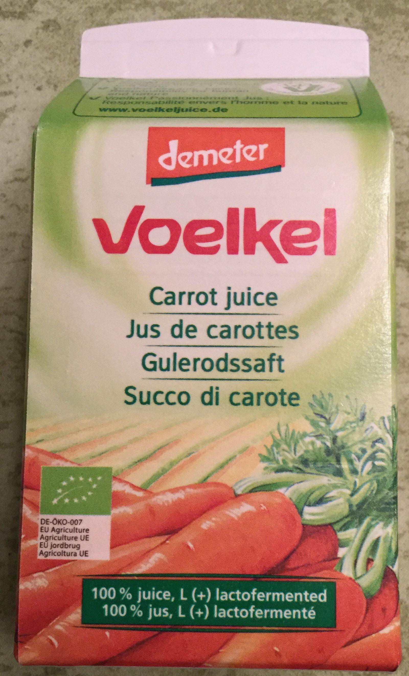 Jus Carotte Lacto-fermenté - Produit