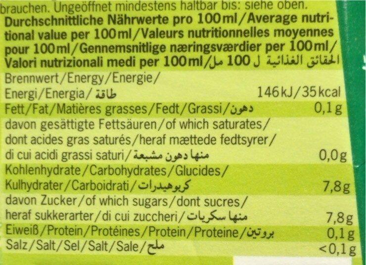 Voelkel - Valori nutrizionali - fr