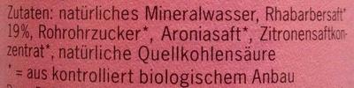 BioZisch Rhabarber - Inhaltsstoffe