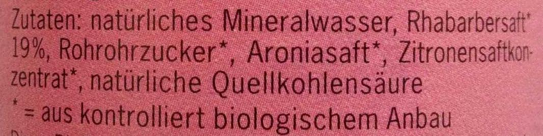 BioZisch Rhabarber - Ingredienti - de