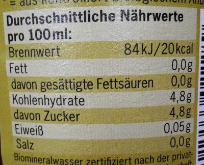 Mate - Nutrition facts - de