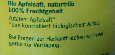 Bio Family Apfel - Ingredients - en