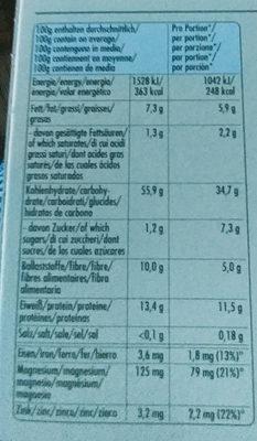 Hammer Mühle Hafer Basis Brei - Informations nutritionnelles - de