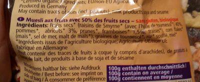 Muesli Aux Fruits - Ingrediënten - fr