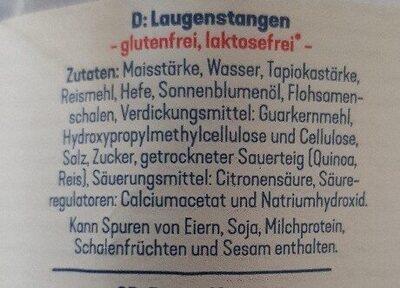 Laugenstangen glutenfrei - Zutaten - de